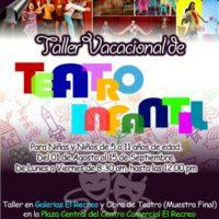 Taller Vacacional de Teatro Infantil en el Centro Comercial El Recreo
