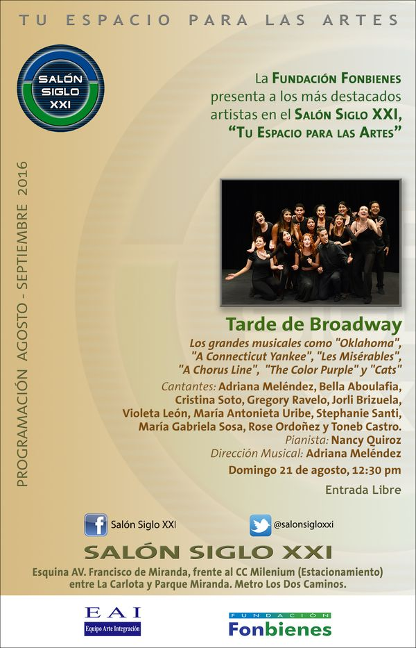 MSC Noticias - Invitación-Tarde-de-Broadway Agencias Com y Pub Teatro