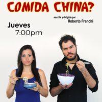 Comedia ¿Y si pedimos comida china? Se instala en la sala de Teatrex El Hatillo