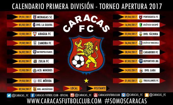 MSC Noticias - 1.Calendario-Caracas-FC FC CCS Futbol Club Futbol