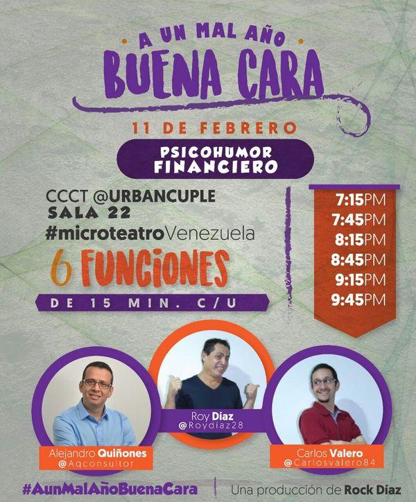 MSC Noticias - AFICHE-A-UN-MAL-AÑO-BUENA-CARA-PSICOHUMOR-FINANCIERO Agencias Com y Pub Teatro