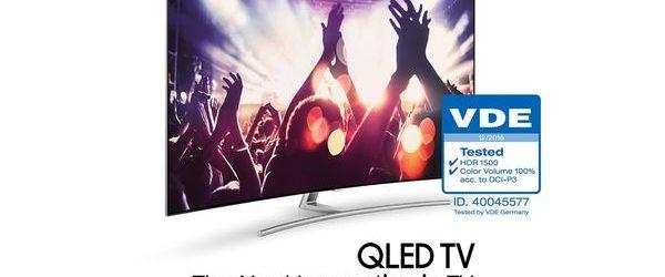 """QLED de Samsung se convierte en el primer televisor con """"Volumen de color del 100 por ciento"""""""