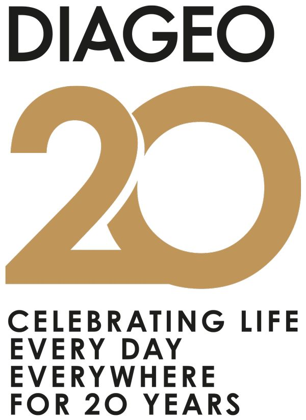 MSC Noticias - Diageo_20Years_Logo_Portrait_Gold Grupo Plus Com Licores y Bebidas